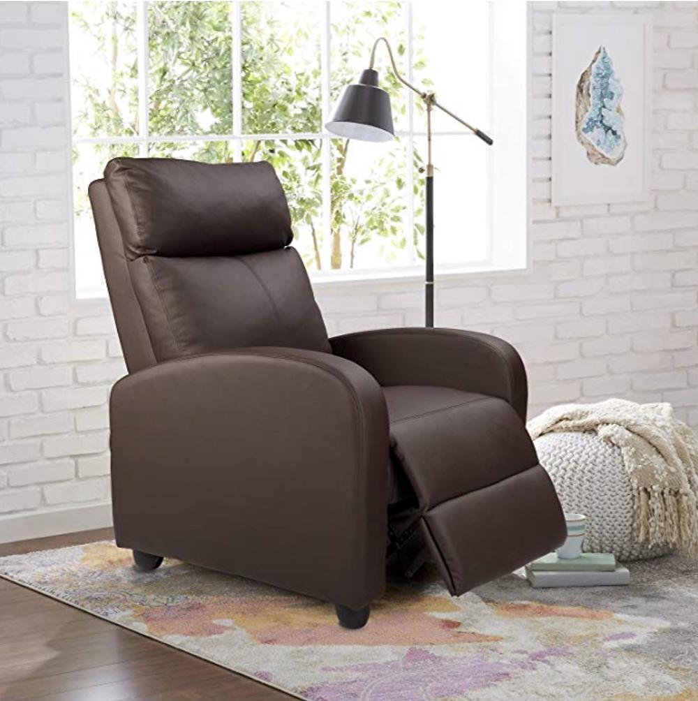Homall Single Recliner Chair Padded Seat PU Leather Living Room Sofa Recliner Modern Recliner Seat Club Chair Home Theater Seating (Brown), Homall, Amazon,<https://www.amazon.com/Homall-Recliner-Leather-Theater-Seating/dp/B07DYMFFQ8/ref=sr_1_9?crid=2U7SK2I2EK79A&keywords=rv%2Brecliners%2Bfurniture%2Bfor%2Bmotorhomes&qid=1581220382&refinements=p_72%3A2661618011&rnid=2661617011&sprefix=RV%2Brecliners%2Caps%2C167&sr=8-9&th=1>