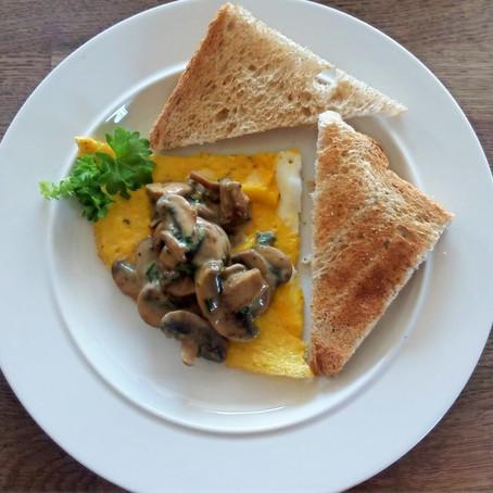 Omelet à la champignon