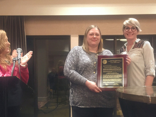 SCMMA Presented with IFPTE Affiliation Plaque