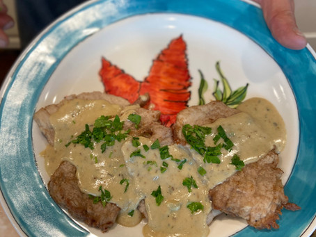 Sautéed Pork Scallopini with Roquefort Sauce