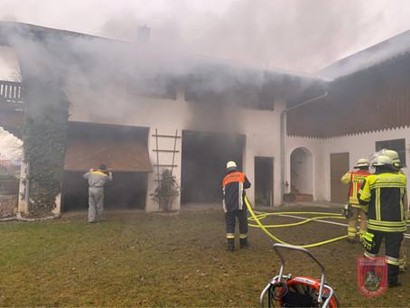 Brand einer Heizungsanlage in Ellmosen