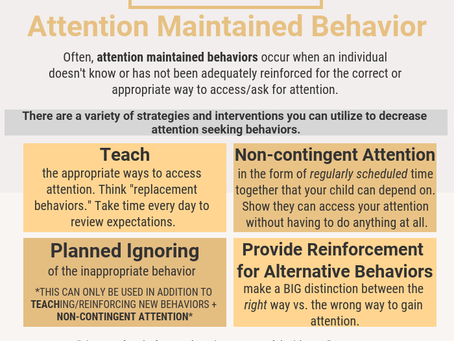 Attention Maintained Behavior