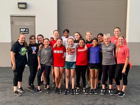 Working Hard @ Full Range Athletics with Softball Sisters!