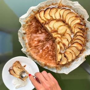 עוגת תפוחים וקשיו