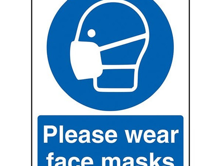 Face Masks for drop-offs and pick-ups