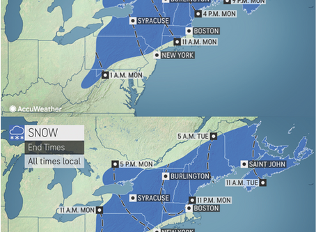 ACCUWEATHER METEOROLOGISTS PROVIDE UPDATE ON SPRING SNOWSTORM HEADING FOR NORTHEAST