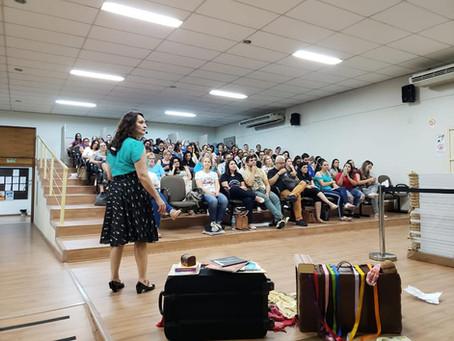 Oficina para professores na 34ª Feira do Livro de Campo Bom/RS