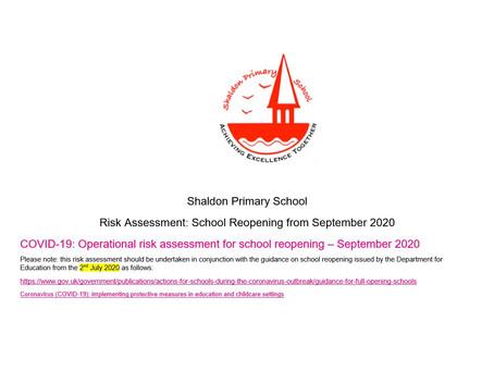 September Reopening Risk Assessment