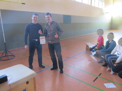 Ausgabe des Deutschen Sportabzeichens im Daibutso Karate Dojos.2019