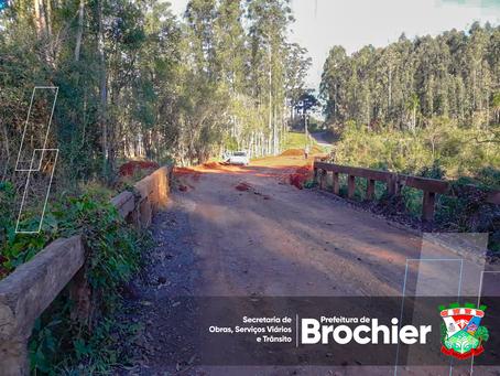 Melhorias na estrada geral em direção Água Fria e Linha Tigre