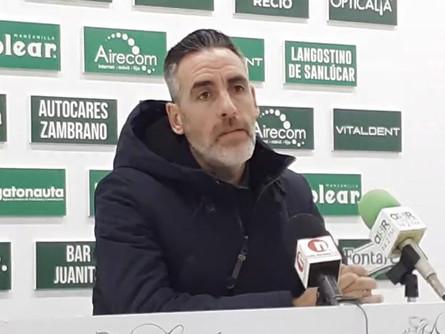 Declaraciones de Abel Gómez tras el At. Sanluqueño 1 CP Villarrobledo 0