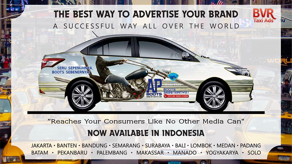 Taxi Advertisement in Bali