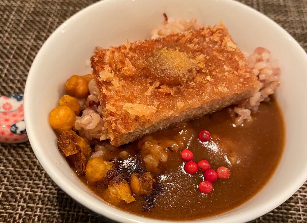 Vegan Katsu curry at Saido Tokyo