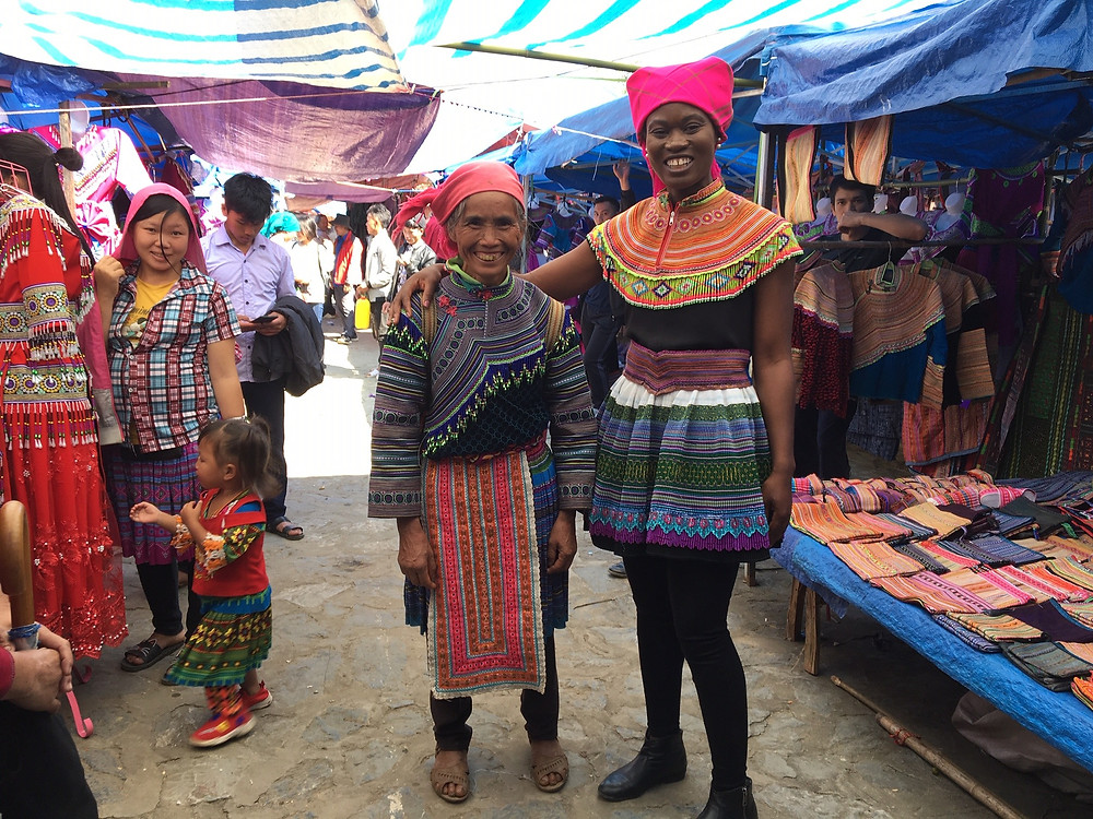 Akofa dressed in Hmong ethnic wear
