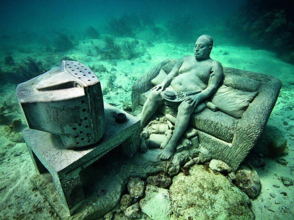 statues sous l'eau mexique