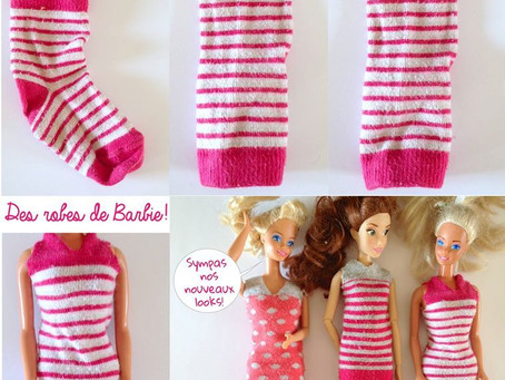 Vêtements pour poupée mannequin  avec des chaussettes de bébé