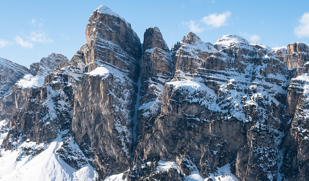 Skitour, Südtirol, Dolomiten, Langental, Sassongher, Valscura, Forcella Ciampei, Forcella Crespeina, Val Chedul