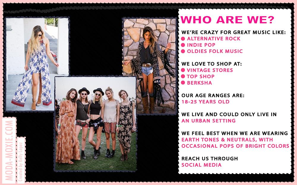 Fashion customer page mood board