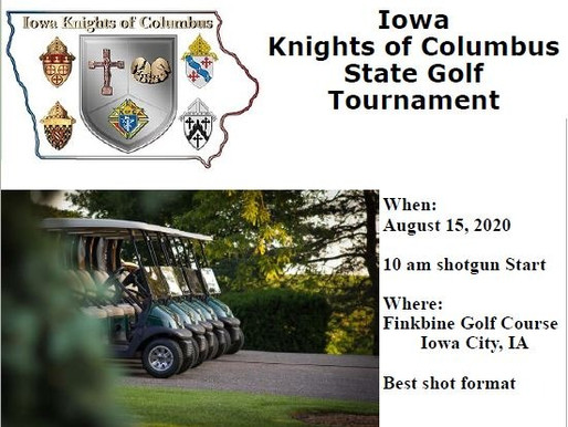 2020 State KofC Golf Tournament