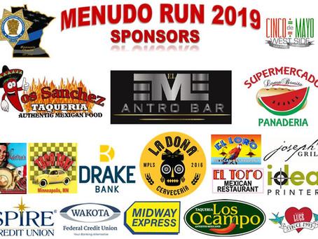 Thank you Menudo 5K Fun Run 2019 Sponsors