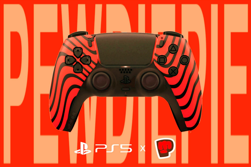 A fan's concept for a much desired PewDiePie DualSense Controller for the PS5 (Credit: Reddit).