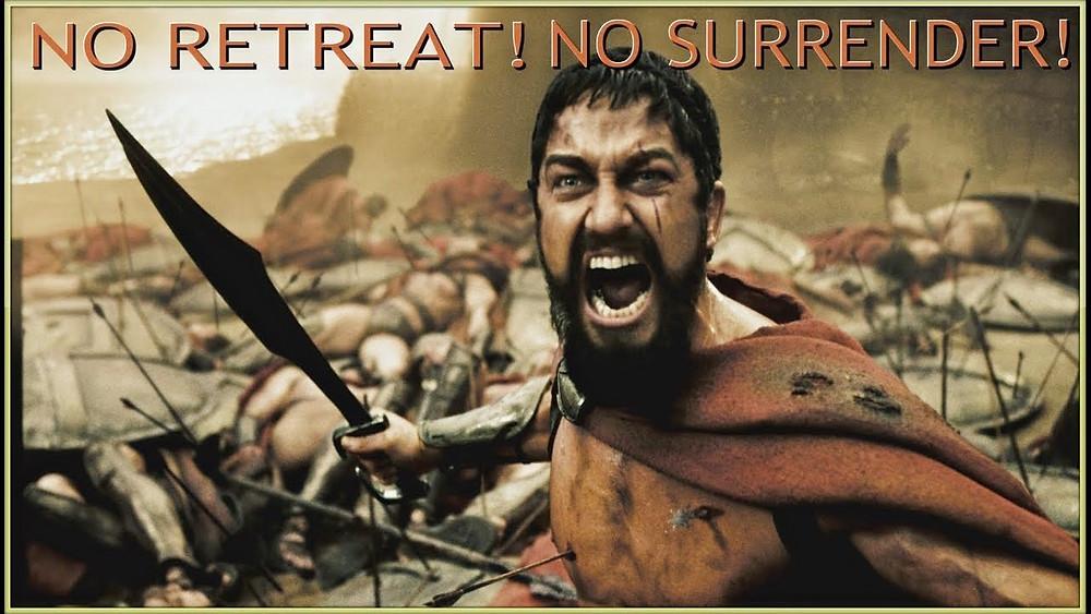 Stop Procrastinating- No Retreat! No Surrender! Procrastinating