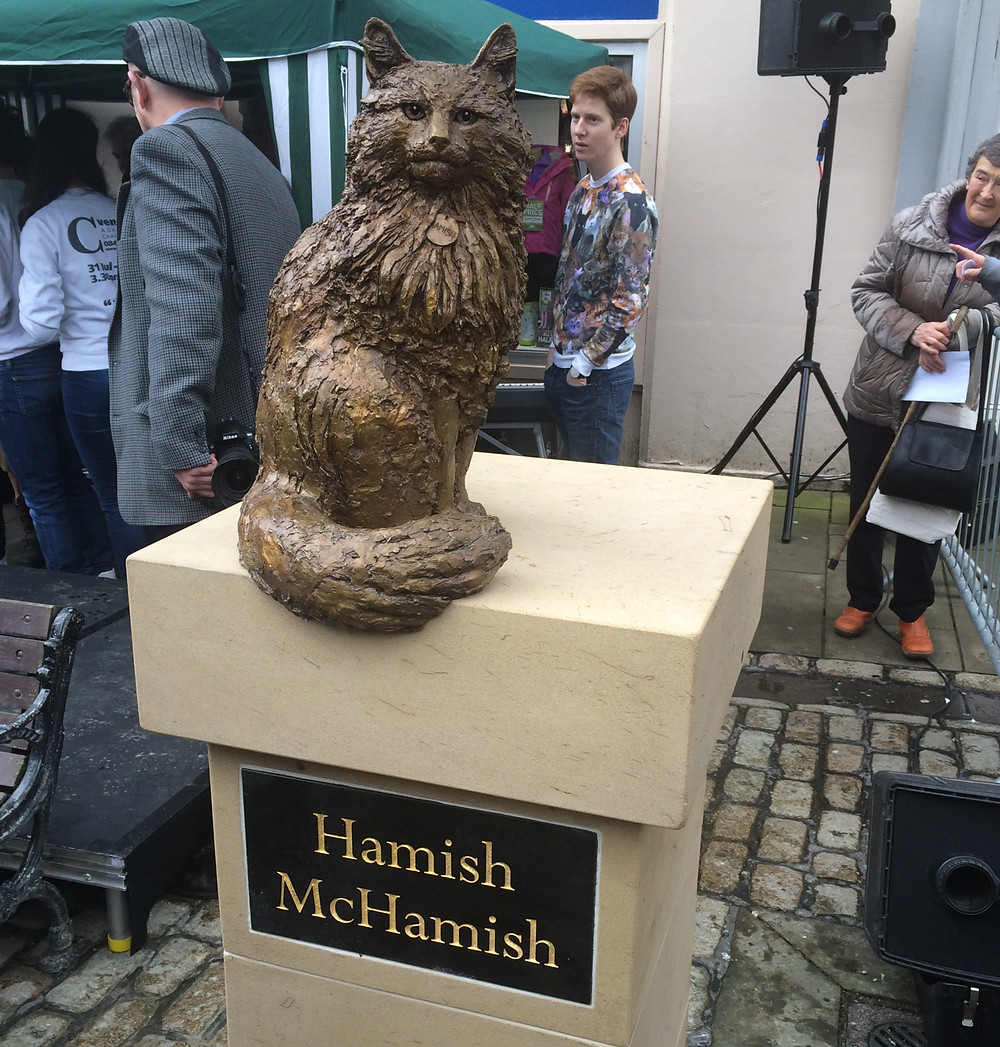 Hamish McHamish Statue in the town of St Andrews, Scotland