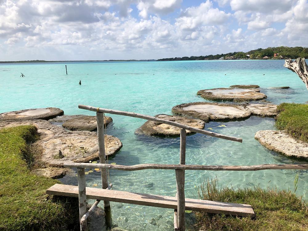 Bacalar-mexiko-schwimmen-tipps-stromatolithen-cocalitos