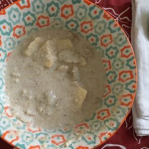 Procedimento della crema di avena con frutta e cereali