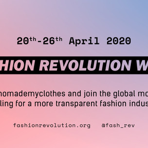 Fashion Revolution Week 20-26 April