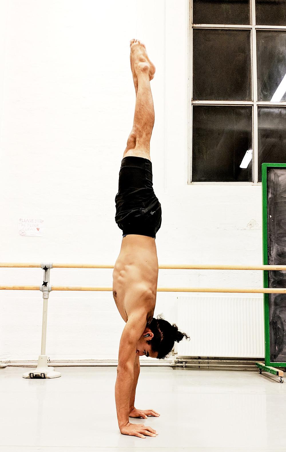 Alignment Handstand shoulders Engagement