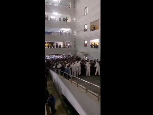 Cientos de personas fueron puestas en cuarentena en un aeropuerto de China