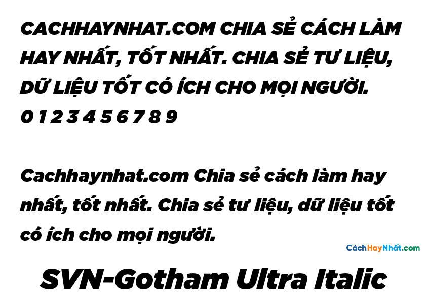 SVN-Gotham Ultra Italic