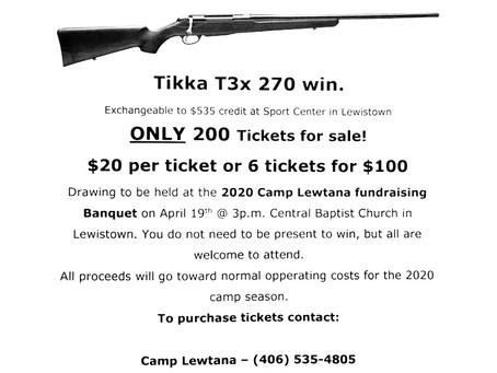 Camp Lewtana Gun Raffle!