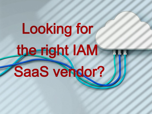 Looking for the right IAM SaaS vendor?
