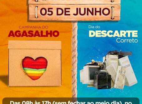 Campanha do Agasalho + Descarte correto