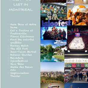 Must-do List Montréal