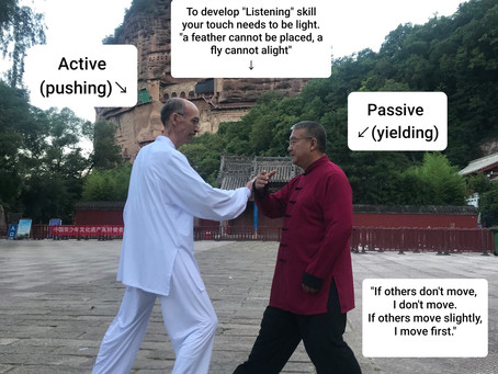 Push Hands is a two-person Tai Chi exercise