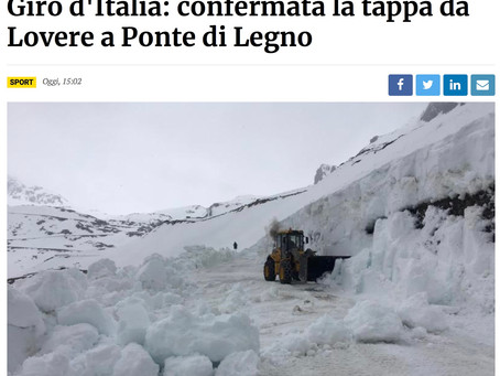 Giro d'Italia: confermata la tappa da Lovere a Ponte di Legno