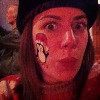 Gina Micek, Lowertown SantaCon 2012, Penguin Facepaint