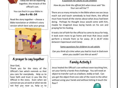 Jesus heals a nobleman's son.