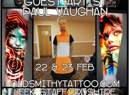 Paul Vaughan - Guest Artist - 22nd & 23rd Feb 2019