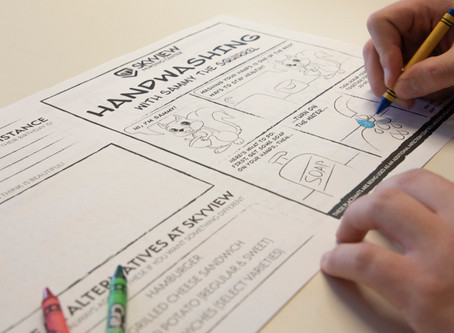 Custom Placemats Provide an Interactive Approach to Infection Control
