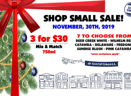 SHOP SMALL SATURDAY-NOV 30TH