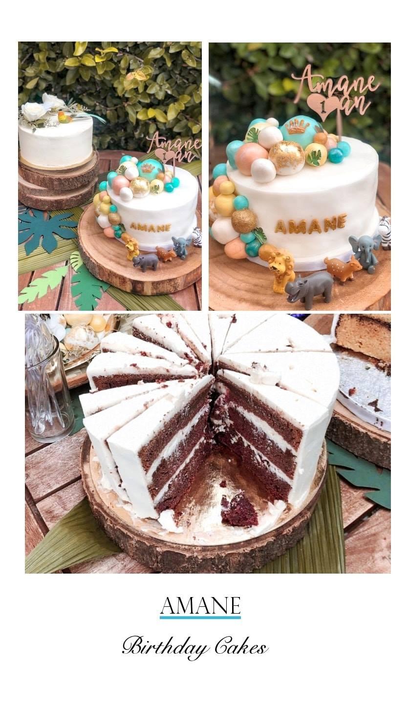 Découpe #nackedcake qui pourrait être fourré de crème contrairement au gateau décoré