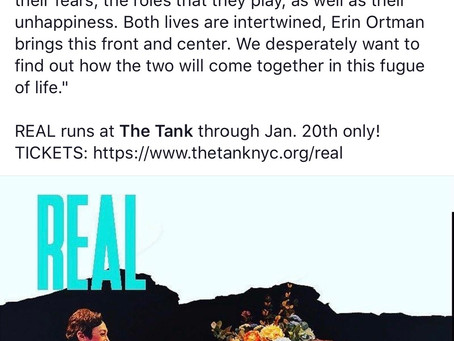 REVIEWS YOU CAN USE: Geeks Media gives REAL [the play] by Rodrigo Nogueira, directed by #ErinOrtman