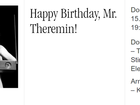 Klangraum Waidhofen: Happy Birthday, Mr. Theremin!
