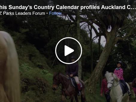 This Sunday's Country Calendar profiles Auckland Council farming and regional parks promo