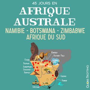 Carte Afrique du Sud Botswana Namibie