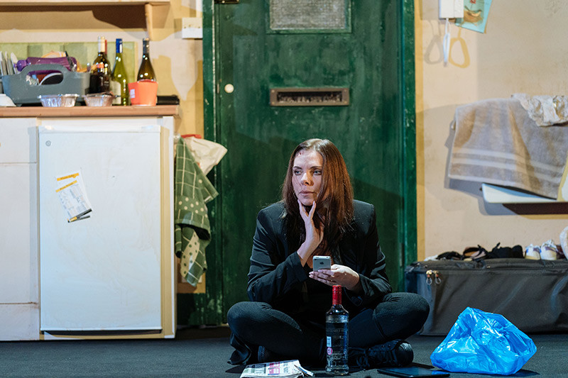 Samantha Womack contemplates her next move in The Girl on the Train at the Lowry Lyric Theatre. All pics: Manuel Harlan